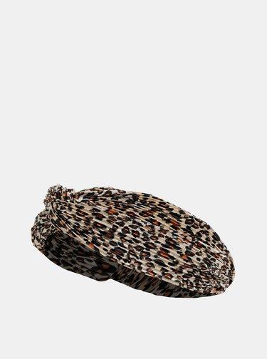 Béžová čelenka s leopardím vzorem Haily´s Carmen
