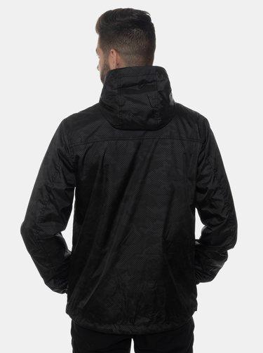 Čierna pánska vzorovaná vodeodolná bunda SAM 73