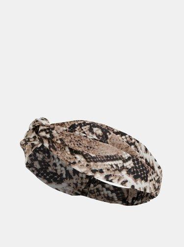 Béžová čelenka s hadím vzorem Haily´s Silla