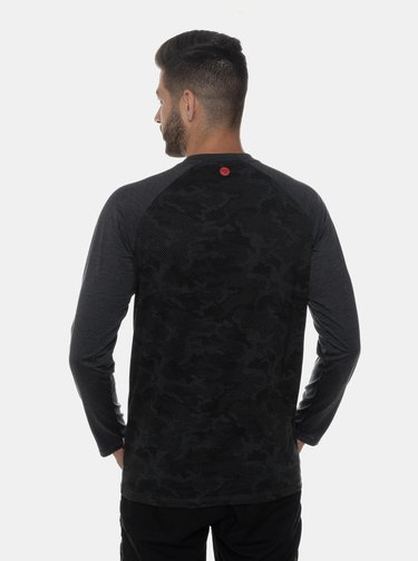Tmavě šedé pánské vzorované tričko SAM 73