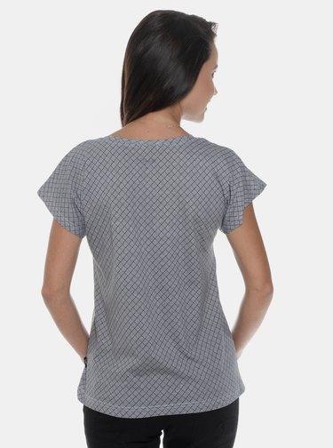 Šedé dámské vzorované tričko SAM 73