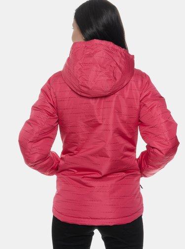 Tmavoružová dámska nepromokavá zimná bunda SAM 73