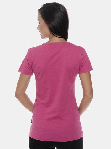 Tmavě růžové dámské tričko s potiskem SAM 73