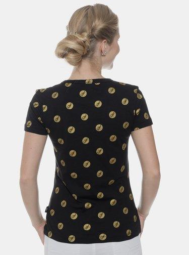 Černé dámské tričko s potiskem SAM 73