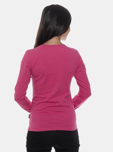 Tmavoružové dámske tričko s potlačou SAM 73