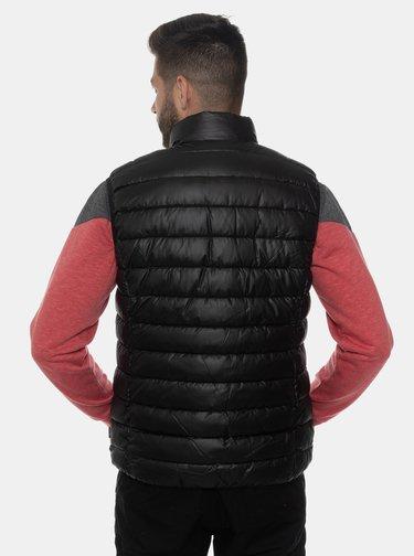 Černá pánská prošívaná vesta SAM 73