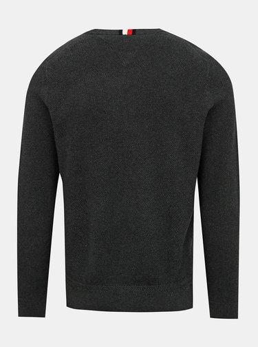 Tmavě šedý pánský basic svetr Tommy Hilfiger