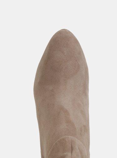 Šedé semišové kotníkové topánky Tamaris