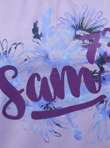 Fialové dámské tričko s potiskem SAM 73