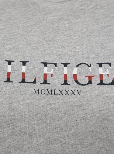 Šedé dámské tričko s potiskem Tommy Hilfiger
