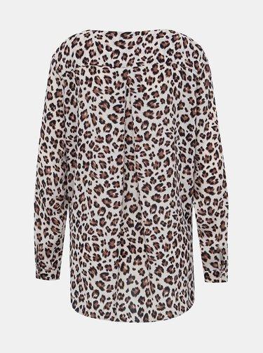 Béžová halenka  s leopardím vzorem VILA Lucy
