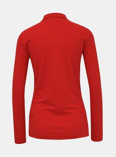 Červené dámské basic polo tričko Tommy Hilfiger