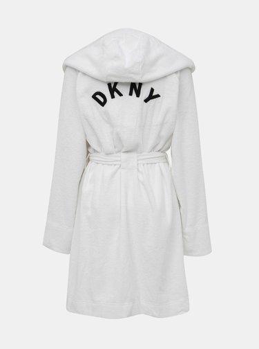 Bílý župan s logem na zádech DKNY