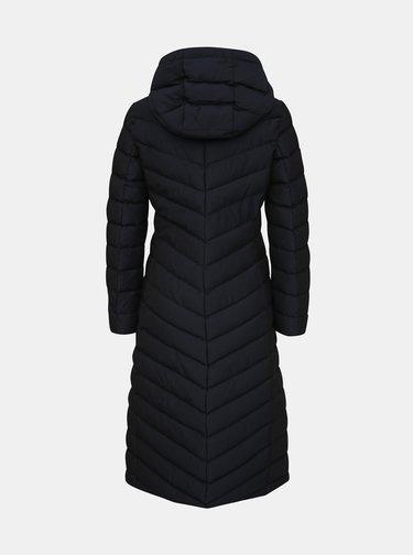 Tmavě modrý dámský voděodolný prošívaný zimní kabát Geox Seyla