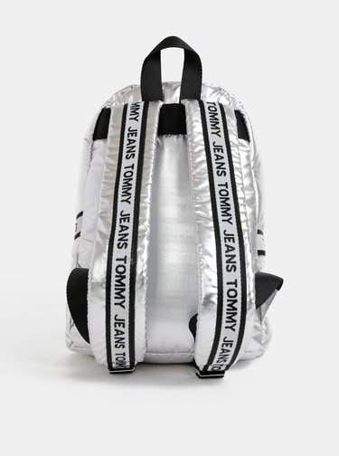 Batoh ve stříbrné barvě Tommy Hilfiger Logo Tape