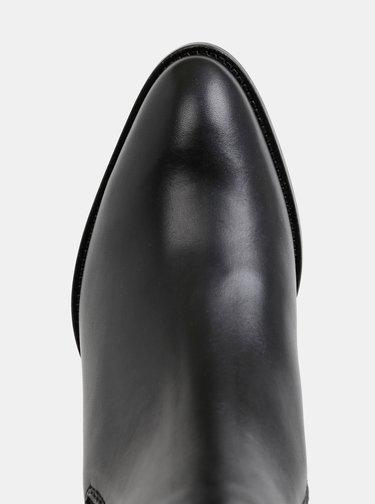 Čierne dámske chelsea topánky Tommy Hilfiger Pin Logo