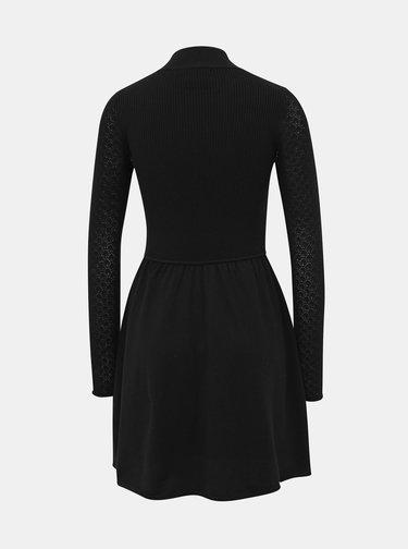 Černé svetrové šaty ONLY Jess