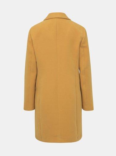 Horčicový kabát VERO MODA Cala