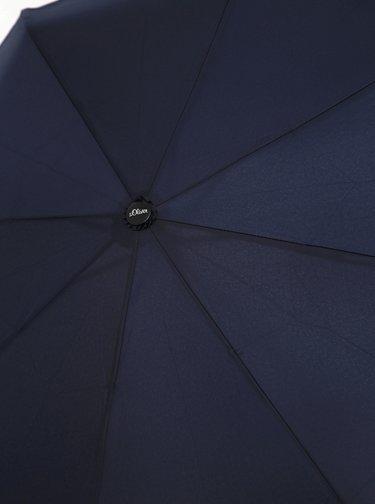 Tmavě modrý skládací deštník Doppler