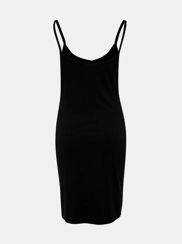 Čierne rebrované šaty Noisy May Mox