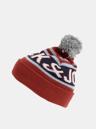 Červená čapica Jack & Jones Mac