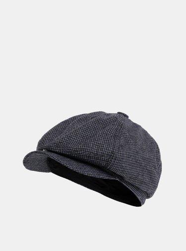 Tmavě šedá vzorovaná bekovka s příměsí vlny Burton Menswear London