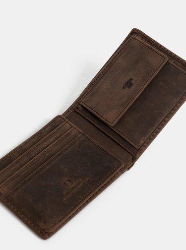 Hnedá pánska kožená peňaženka Tom Tailor Ron