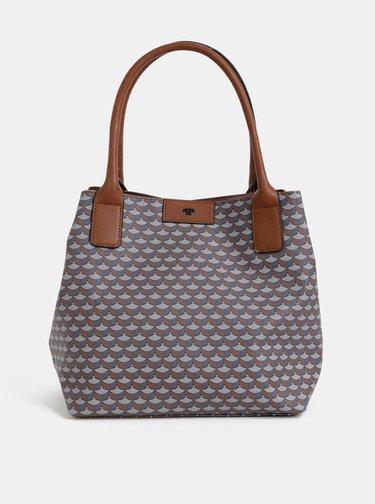 Šedo-hnedá vzorovaná kabelka Tom Tailor Miri