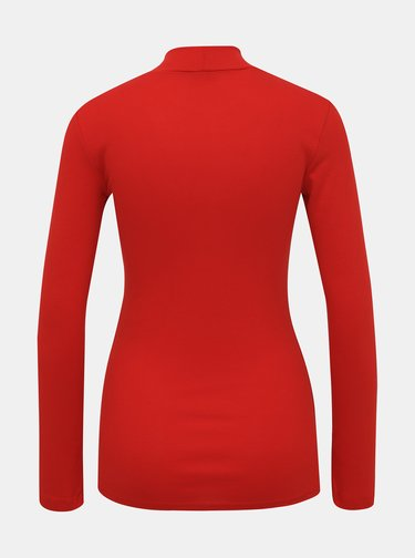 Červené basic tričko se stojáčkem Dorothy Perkins