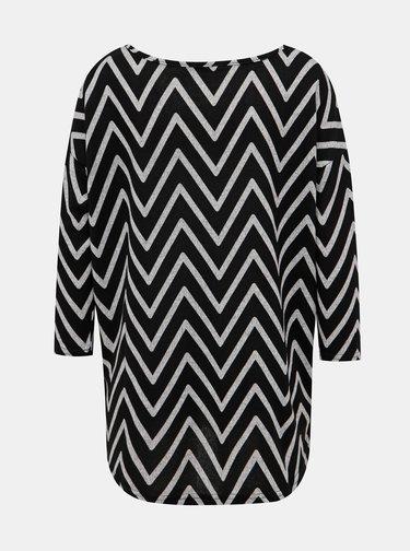 Černý vzorovaný svetr ONLY Elcos