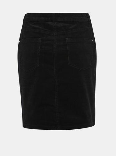 Černá manšestrová sukně Dorothy Perkins Tall