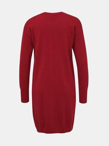 Červený dámský basic kardigan ZOOT