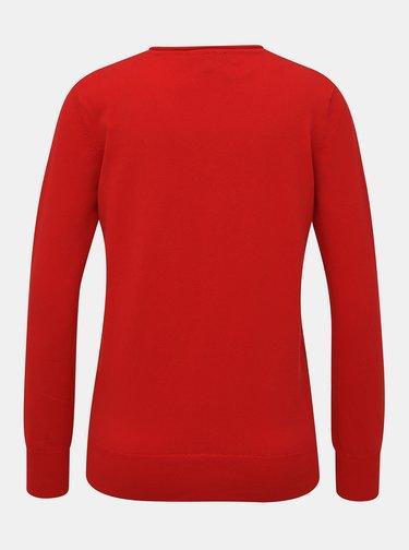 Červený dámsky basic sveter ZOOT