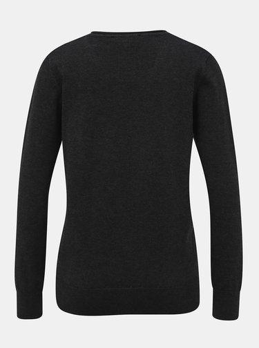 Tmavě šedý dámský basic svetr ZOOT
