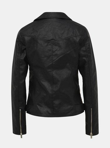 Čierna koženková bunda Dorothy Perkins Tall