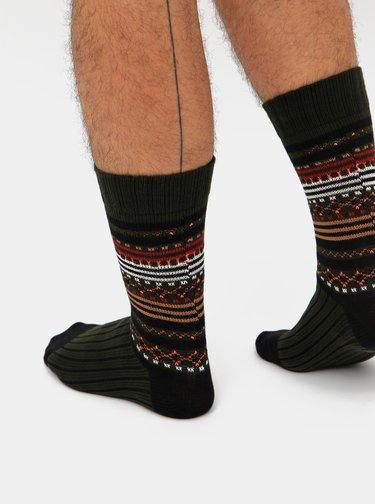 Sada dvoch párov vzorovaných ponožiek v zelenej a šedej farbe Selected Homme Nordic