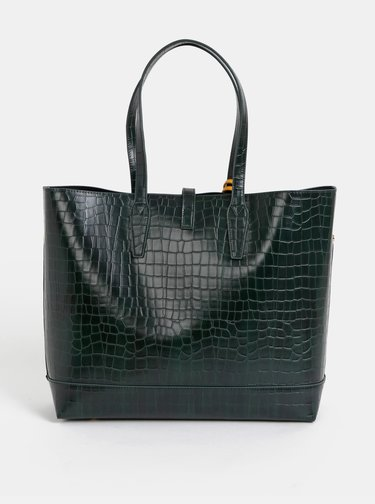 Tmavozelený shopper s krokodýlím vzorom Paul's Boutique Bianca