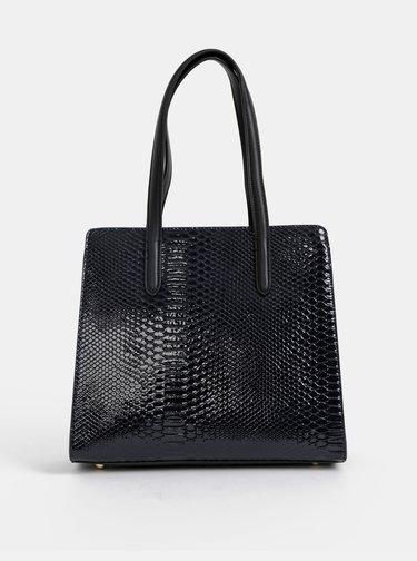 Černá kabelka s hadím vzorem Paul's Boutique Georgia