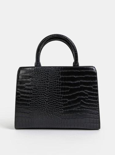Černá kabelka s krokodýlím vzorem Paul's Boutique Midi Mabel
