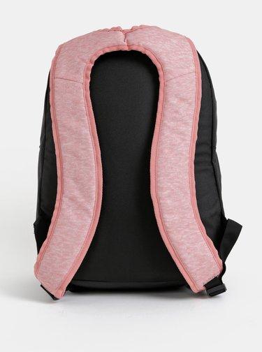 Čierno-ružový batoh s potlačou Roxy Here You Are 23,5 l