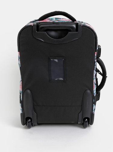 Čierny kvetovaný kufor Roxy Wheelie