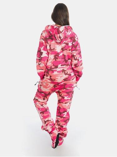 Rúžový maskáčový overal SKIPPY