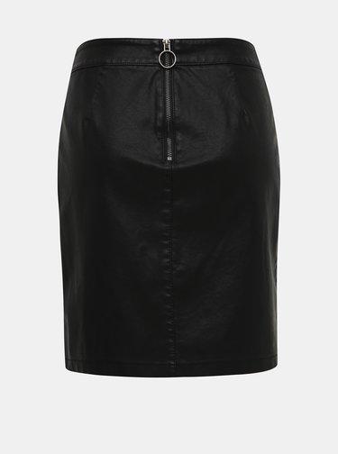 Čierna koženková púzdrová sukňa Noisy May Wren