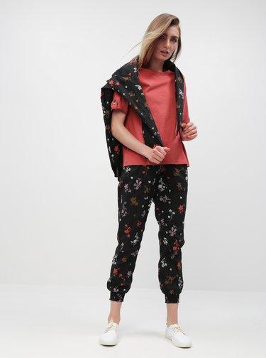 Pantaloni negri florali de dama Maloja Marietta