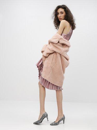 Růžové šaty s plisovanou sukní Dorothy Perkins