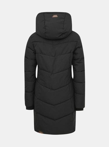 Černý dámský prošívaný funkční zimní kabát Ragwear Pavla