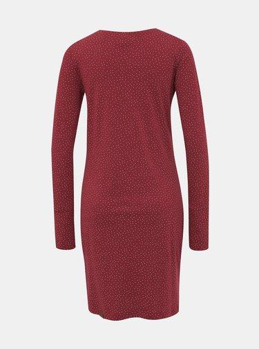 Vínové vzorované šaty Ragwear River