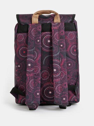 Fialový dámsky vzorovaný batoh LOAP Evena 13 l