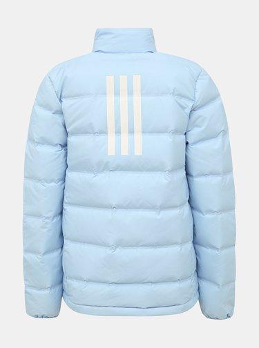 Svetlomodrá dámska zimná bunda adidas Performance Helionic