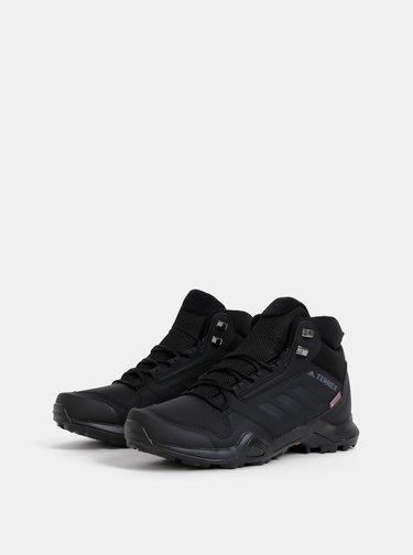 Čierne pánske vodeodolné outdoorové topánky adidas Performance Terrex